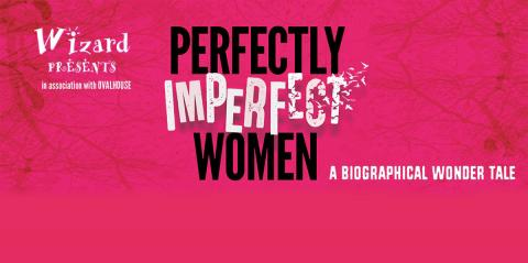 Perfectly Imperfect Women written in large black letters on a pink background