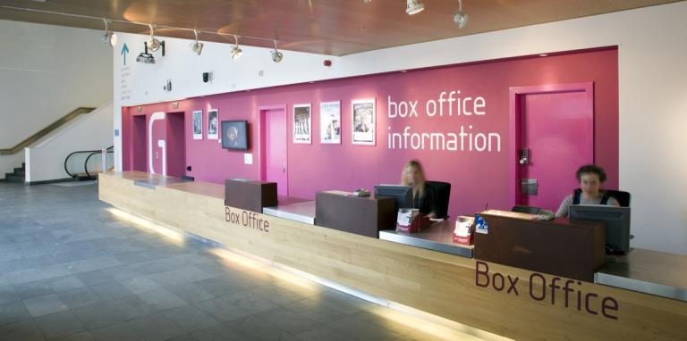 photo of box office reception area