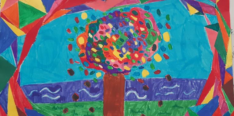 a colourful tree