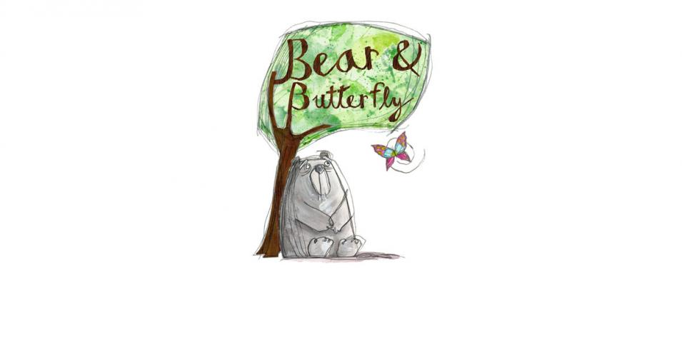 Bear and Butterfly Illustration