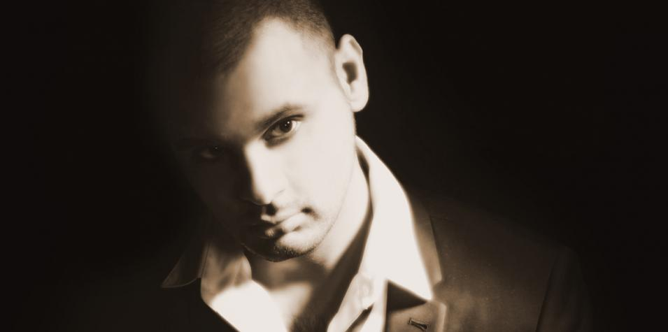 Atmospheric black and white photo of Niraj