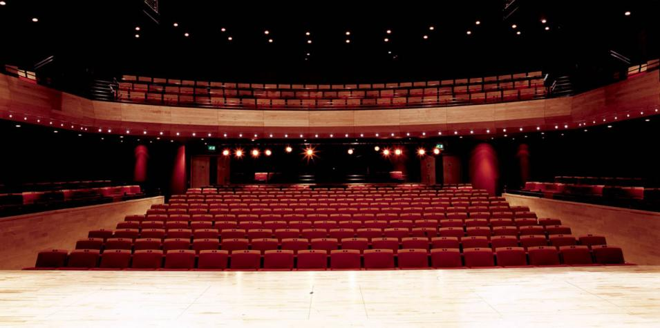 A view from the stage into the Pentland theatre auditorium