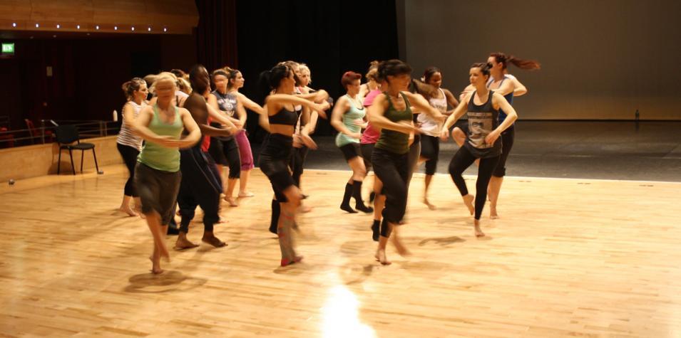 Photo of dance workshop in the Pentland Theatre