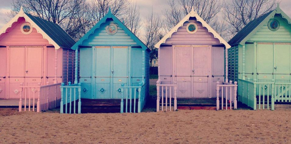 image of beach huts