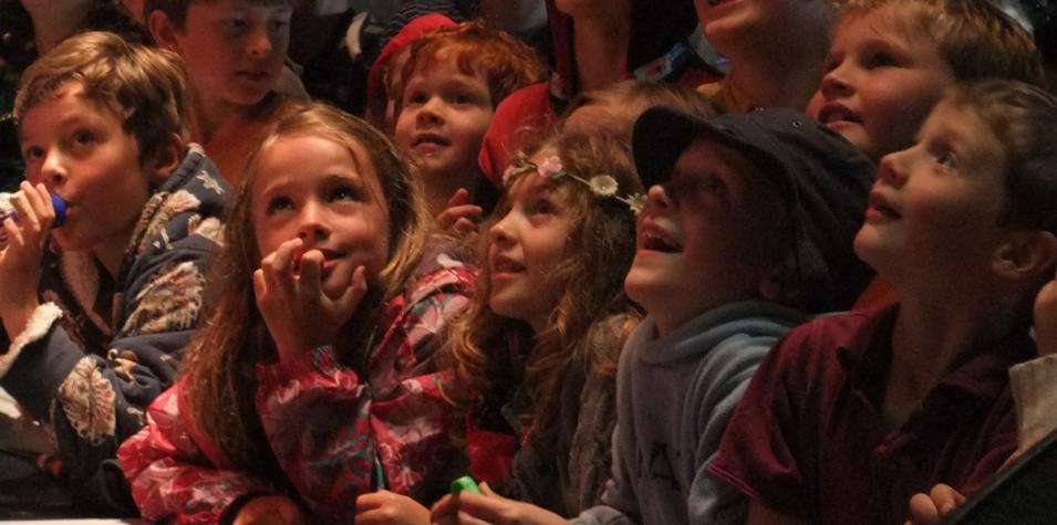 Image of kids watching Comedy Club 4 Kids