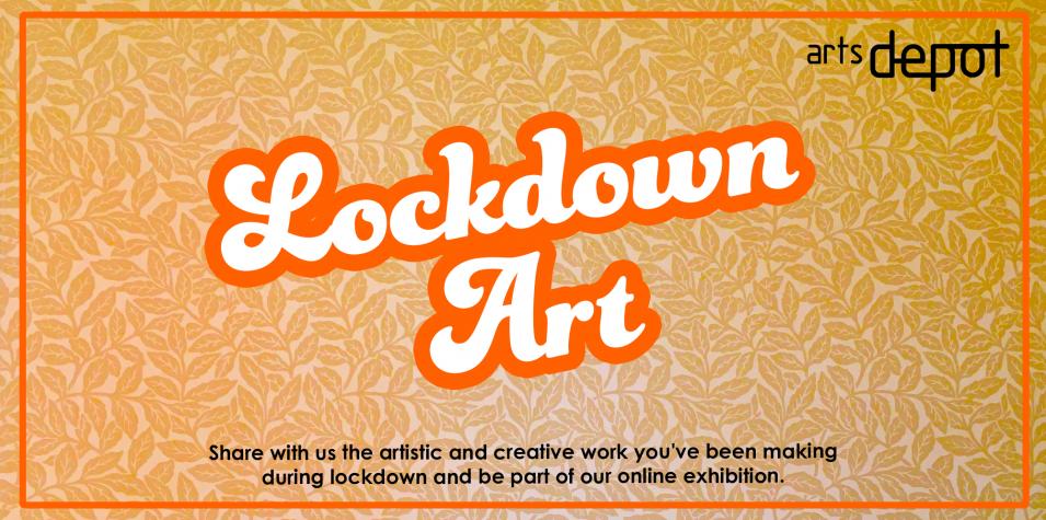 lockdown art on funky wallpaper
