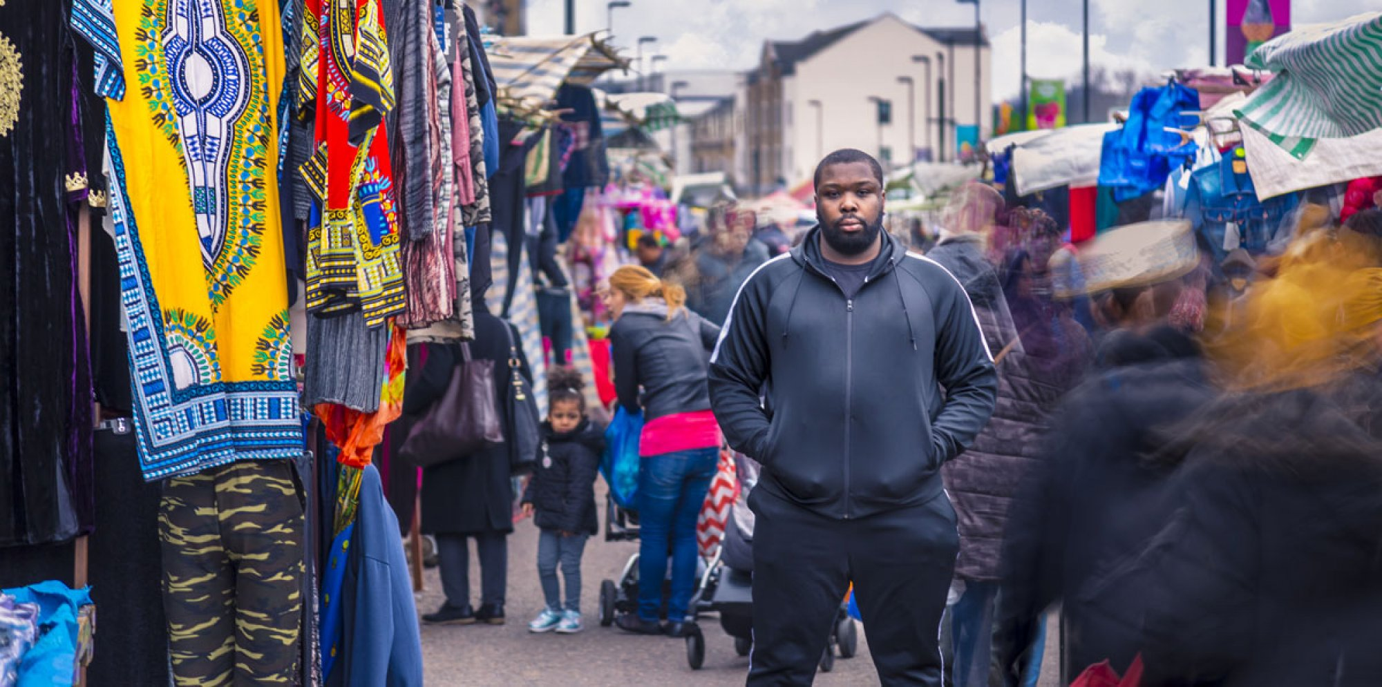 Man standing in a market