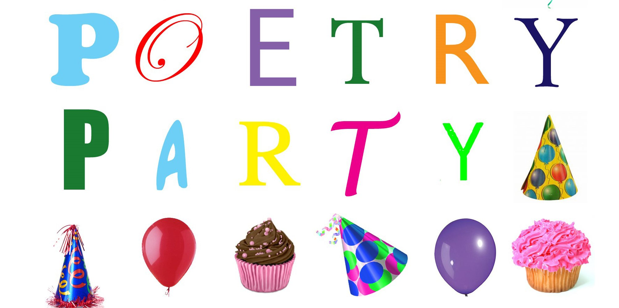 Text that reads 'poetry party'