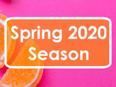 Spring 2020 Season on sale Wed 6 Nov
