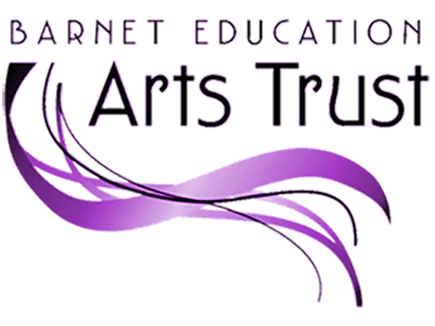 Purple and black text on a white background reads Barnet Education Arts Trust