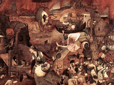 Jack Bradfield & Ben Kulvichit: hieronymus bosch painting of hell. lots of elements to the image with lots of people screaming
