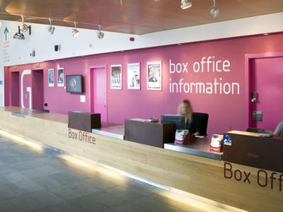 photo of box office reception area