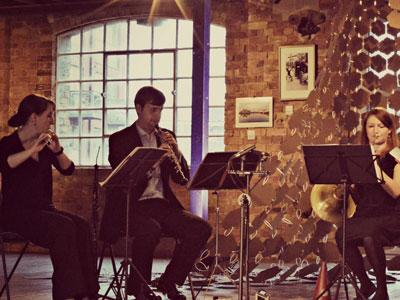 An image of musicians playing for Ensemble Perpetuo