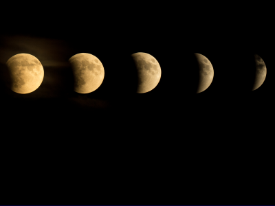 a series of moon phases