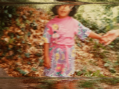 a blurred image of a young girl