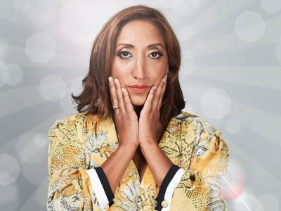 Shazia Mirza: Shazia clapping her hands to her face