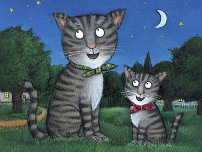 Tabby McTat © 2009 Julia Donaldson and Axel Scheffler. Published by Alison Green Books, an imprint of Scholastic Children's Books