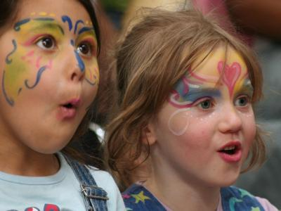 Image of children with painted faces