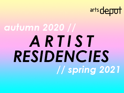 text that says artist residencies